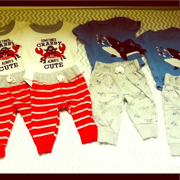 481b92af7 Carter's Matching Sets | Carters Twin Boys Newborn Outfits | Poshmark